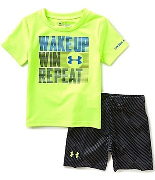 Under Armour Baby Boys 12-24 Months Wake Up Short-Sleeve Tee & Shorts Set