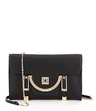 Kate Landry Buckle Flap Cross-Body Bag