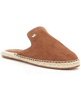 MICHAEL Michael Kors Hastings Kid Suede Open-Back Espadrille Slides