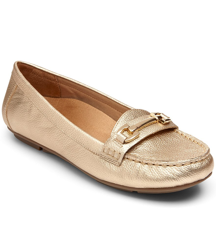 Vionic® Chill Kenya Metallic Leather Loafers