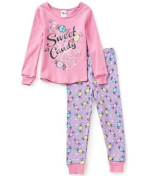 Sweet Heart Rose Little/Big Girls 4-14 Sweet as Candy Top & Pants Pajama Set