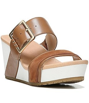 Original Collection by Dr. Scholl´s Frill Double Banded Buckle Wedge Sandals