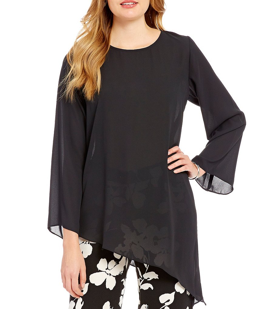 Vince Camuto Long Sleeve Asymmetrical Hem Blouse