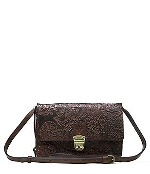 Patricia Nash Burnished Tooled Lace Collection Lanza Convertible Cross-Body Bag