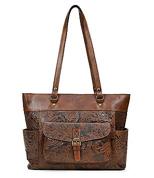 Patricia Nash Burnished Tooled Lace Collection Bolsena Tote