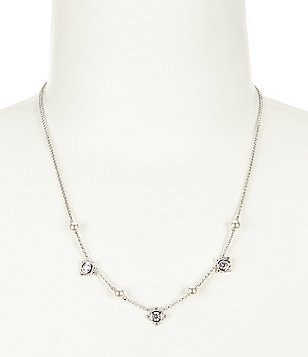 Nadri Joan Cubic Zirconia & Faux-Pearl Frontal Necklace