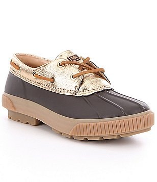 MICHAEL Michael Kors Hyde Rubber Metallic Leather Trim Duck Shoes