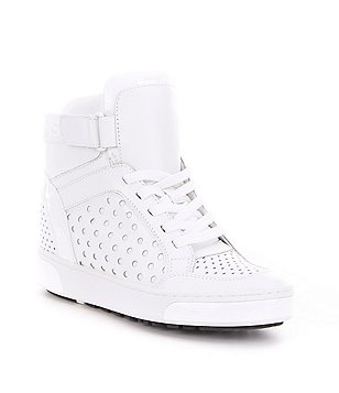 MICHAEL Michael Kors Pia Velcro High-Top Perforated Sneakers