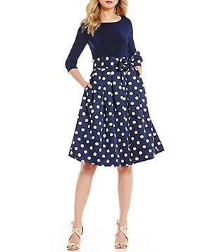 Jessica Howard Polka-Dot Party Dress