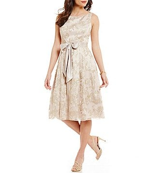 Jessica Howard Soutache Embroidered Midi Dress