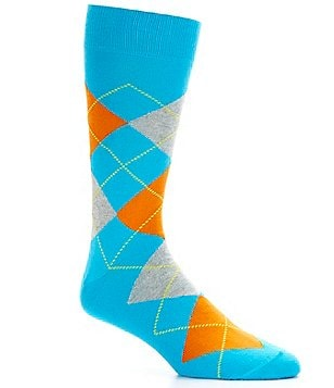 Cremieux Bright Argyle Crew Dress Socks