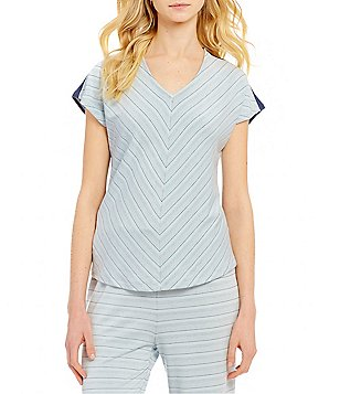 Nottibianche TEMPtations Striped French Terry Sleep Top