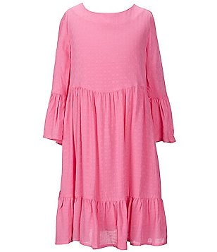 Copper Key Big Girls 7-16 Dobby Peasant Dress