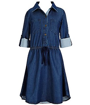 Copper Key Big Girls 7-16 Chambray Woven Shirt Dress