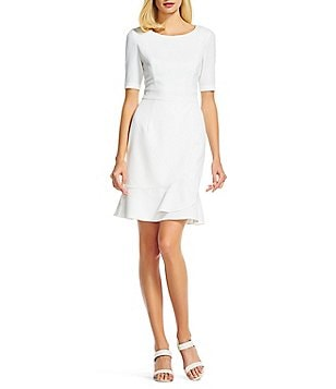 Adrianna Papell Bateau Neck Sheath Dress