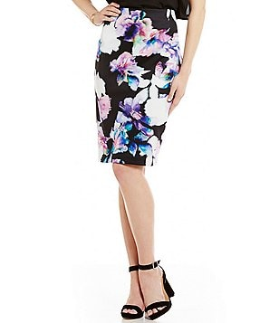 Antonio Melani Ottis Printed Scuba Pencil Skirt
