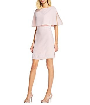 Adrianna Papell Split Sleeve Popover A-Line Dress