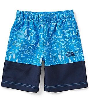 The North Face Big Boys 8-20 Class V Water-Changing Print Water Shorts