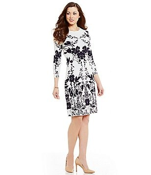 Antonio Melani Courtney Knit 3/4 Sleeve Dress