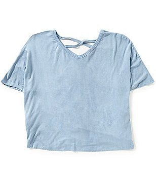 Copper Key Big Girls 7-16 Cross-Back Short-Sleeve Knit Tee