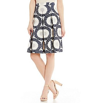 Antonio Melani Alice Printed Novelty Jacquard Full Skirt