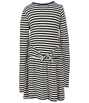 Copper Key Little Girls 4-6X Striped Knit Mock-Tie Dress