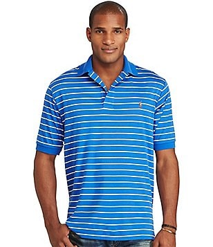 Polo Ralph Lauren Big & Tall Classic-Fit Striped Pima Soft Short-Sleeve Polo Shirt