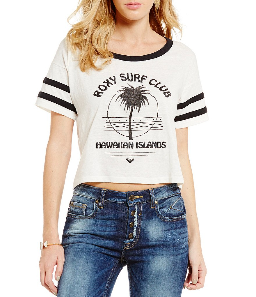 Roxy Sake Sumo Roxy Surf Club Graphic Ringer Tee