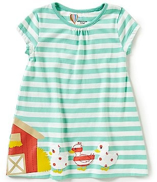 Adventure Wear by Copper Key Little Girls 2T-4T Striped Barn Dress