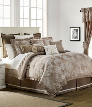 Waterford Trousseau Floral Jacquard Comforter Set Dillards