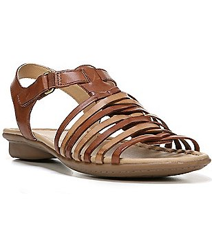 Naturalizer Wade Leather Two Toned Multi Strap Sandals