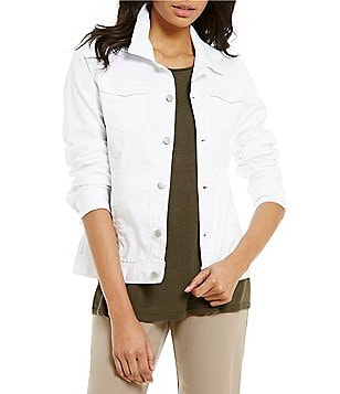 Eileen Fisher Denim Classic Collar Shaped Jacket