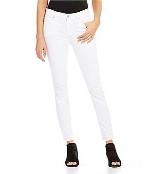 Eileen Fisher 5-Pocket Raw Edge Skinny Jeans