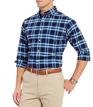 Cremieux Plaid Oxford Long-Sleeve Woven Shirt