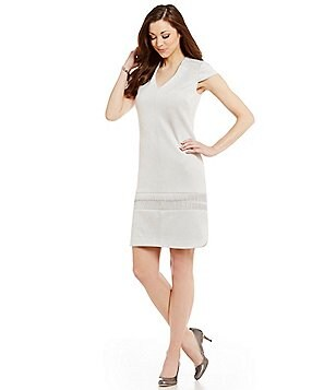 Antonio Melani Onika V-Neck Cap Sleeve Faux-Suede Dress