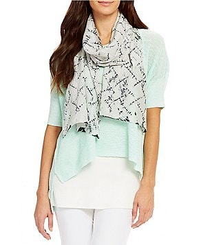 Eileen Fisher Silk Shibori Labyrinth Scarf