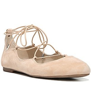Sam Edelman Flynt Suede Lace-Up Ghillie Flats