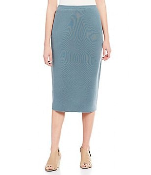 Eileen Fisher Pull-On Midi Pencil Skirt