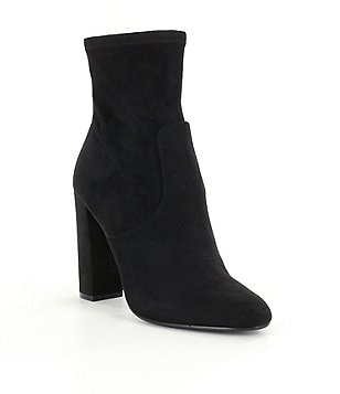 Steve Madden Edit Side Zip Block Heel Booties
