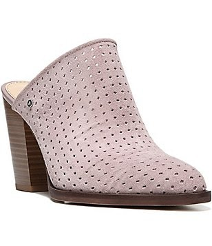 Sam Edelman Bates Perforated Suede Slip-On Mules