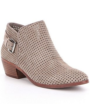 Sam Edelman Paula Perforated Suede Booties