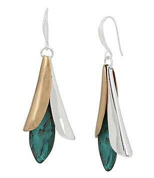 Robert Lee Morris Soho Sculptural Petal Drop Earrings