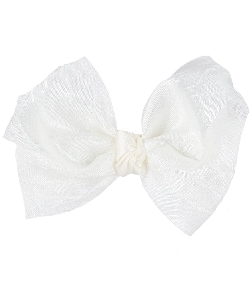 Starting Out Baby Girls Small Crushed Silk Bow