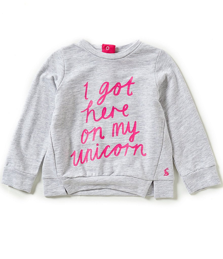 Joules Baby/Little Girls 12 Months-3T Unicorn Screenprint Sweatshirt