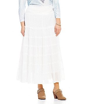Reba Plus Joy Tiered A-line Skirt