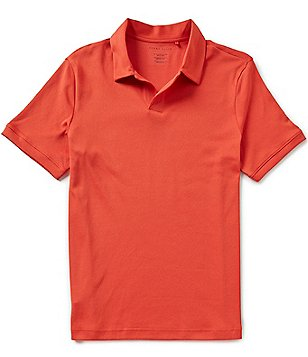 Perry Ellis Open Short-Sleeve Solid Polo Shirt