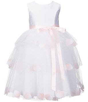Marmellata Little Girls 2T-6X Tiered Floral-Appliqué Flower Girl Dress