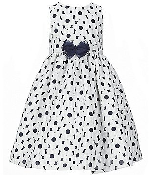 Pippa & Julie Little Girls 2T-6X Sleeveless Daisy Bow Dress