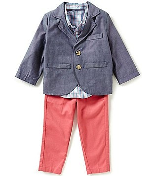 Class Club Little Boys 2T-7 Denim Blazer 3-Piece Suit Set