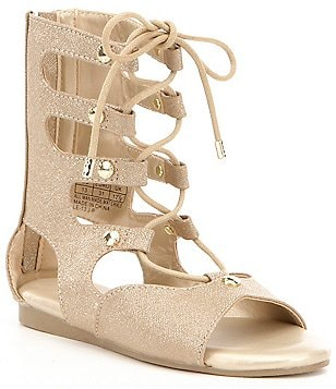 MICHAEL Michael Kors Girl´s Demi Carly Metallic Tall Lace-Up Gladiator Sandal